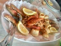 Grilled Scampi - (not so) traditional Sardinian Food usually does not contain seafood