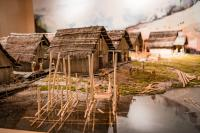 Pile Dwelling Model - UNESCO Prehistoric Pile Dwellings around the Alps Museum in Fiavé Trentino Italy