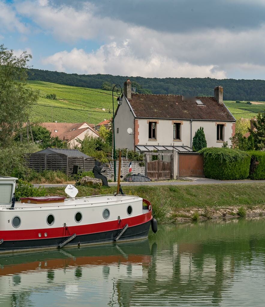 Vineyards and cute French Villages in the Champgne | Luxury Barge Cruises in France