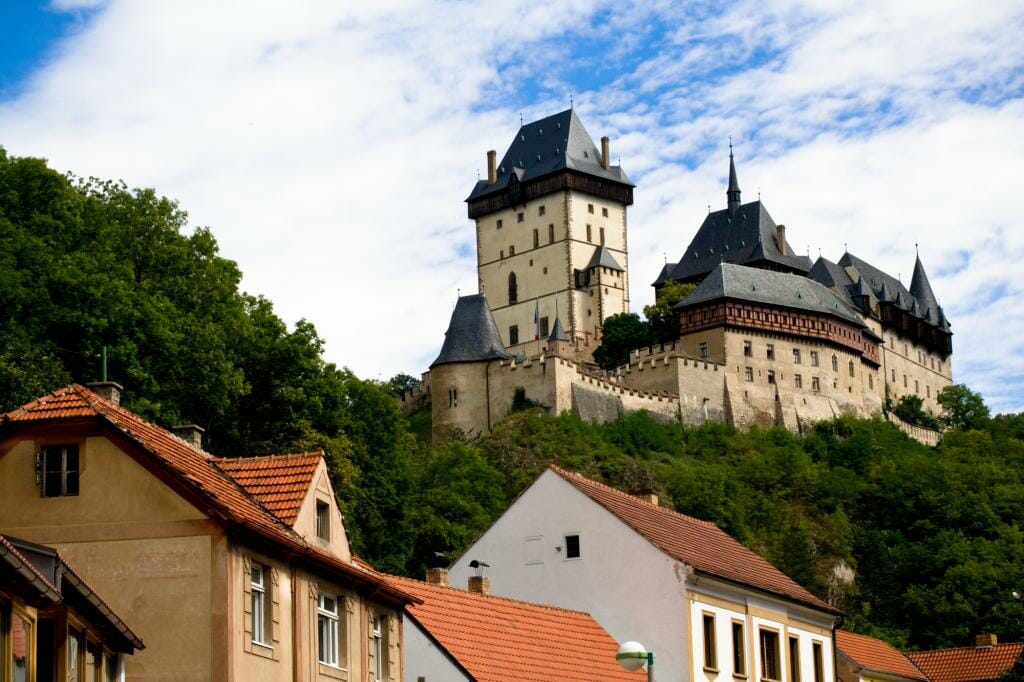 Day Trips Prague - Karlstein castle and old roofs