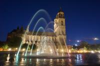 Magdeburg Cathedral at night - Saxony-Anhalt Germany