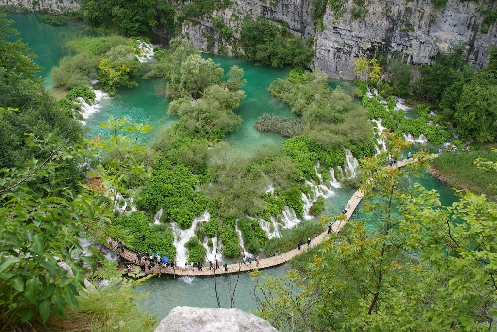 Plitvice Lakes from above - Rijeka Croatia