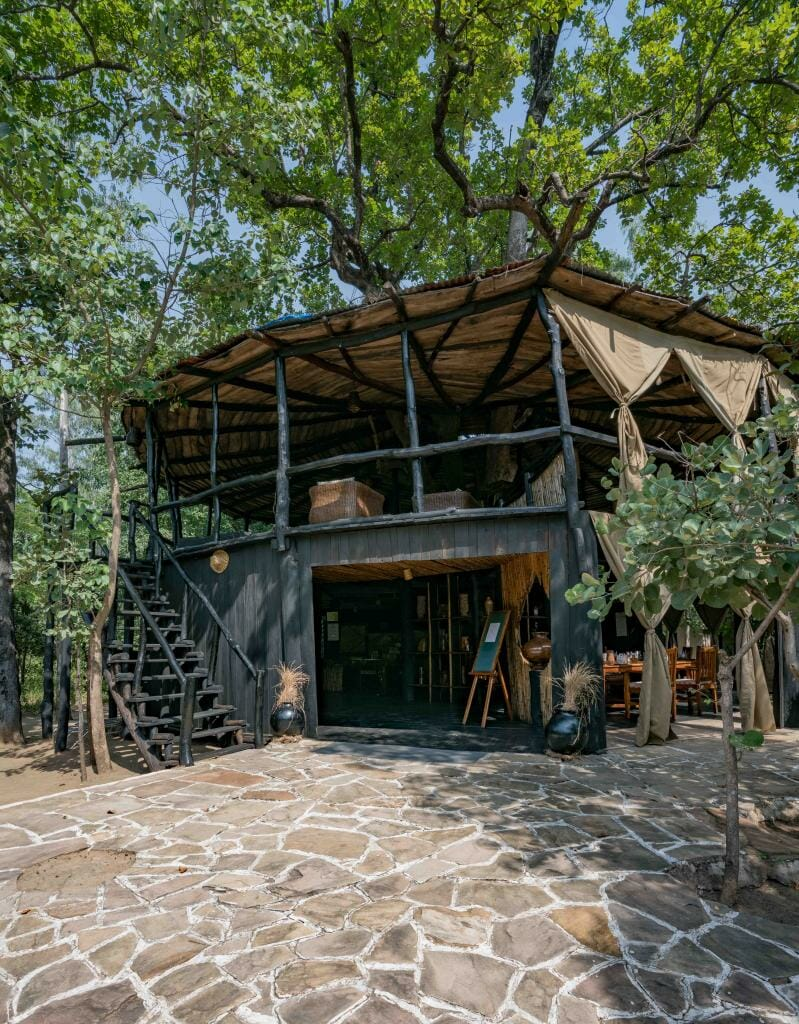 Restaurant at Treehouse Hideaway Bandhavgarh National Park - Bandhavgarh Resorts - Pugdundee Safaris - Bandhavgarh Safari - Bandhavgarh Hotel