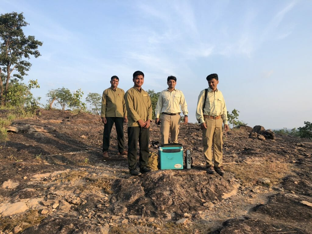 Staff and Naturalists at Sundowner at Kanha Earth Lodge - National Park Kanha Hotels - Pugdundee Safari - Madhya Pradesh India