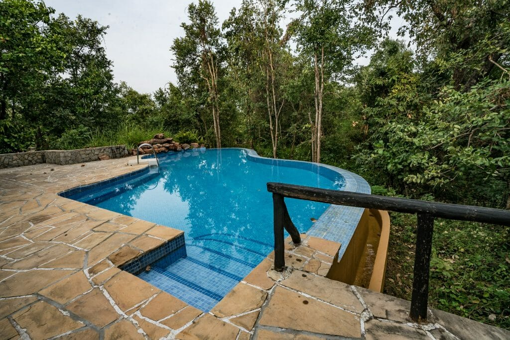 Pool at Kanha Earth Lodge - Kanha National Park hotels - Pugdundee Safari - Madhya Pradesh India