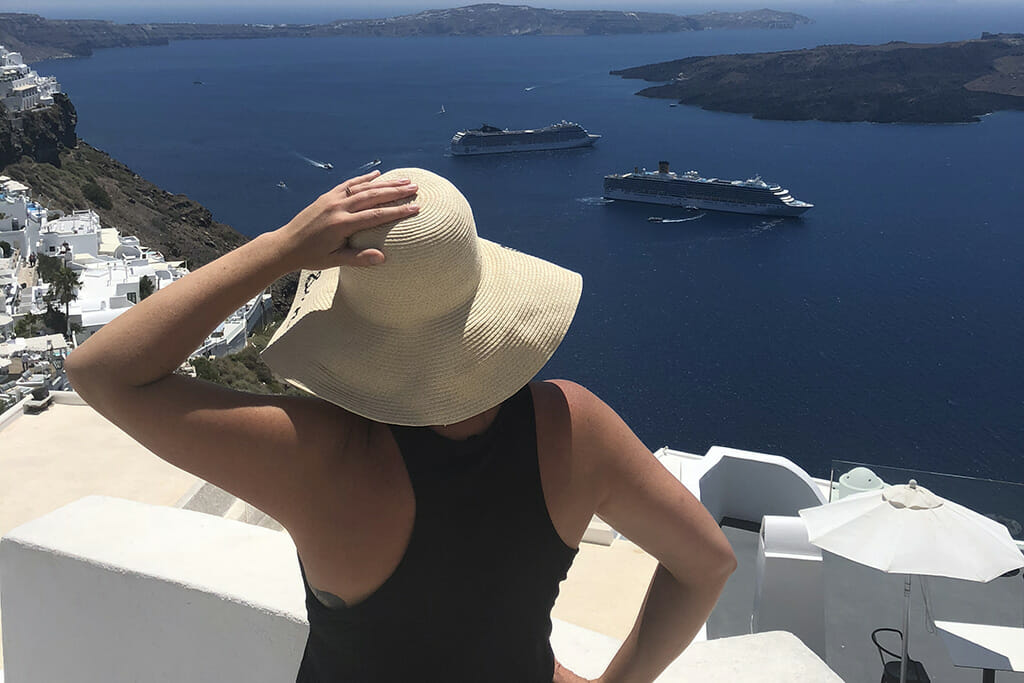 Holiday Packing List - Carpe Diem OUR Way Hat for Greece - Lindsay Nieminen