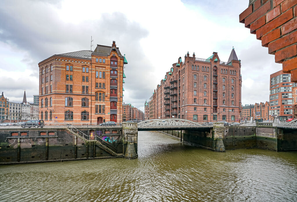 Speicherstadt Hamburg - Red Brick Storage Buildings with Canals