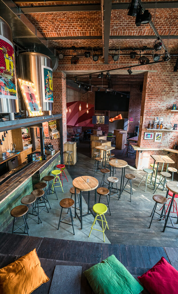 Colorful Brew Pub at Craft Beer Brewery Überquell in Hamburg - Top Things to do in Hamburg