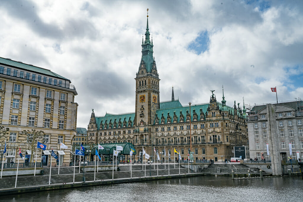 Hamburg City Hall near Alster River - What to do in Hamburg