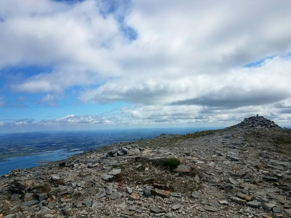 At the summit of the Croagh Patrick pilgrimage is a Rock Memorial