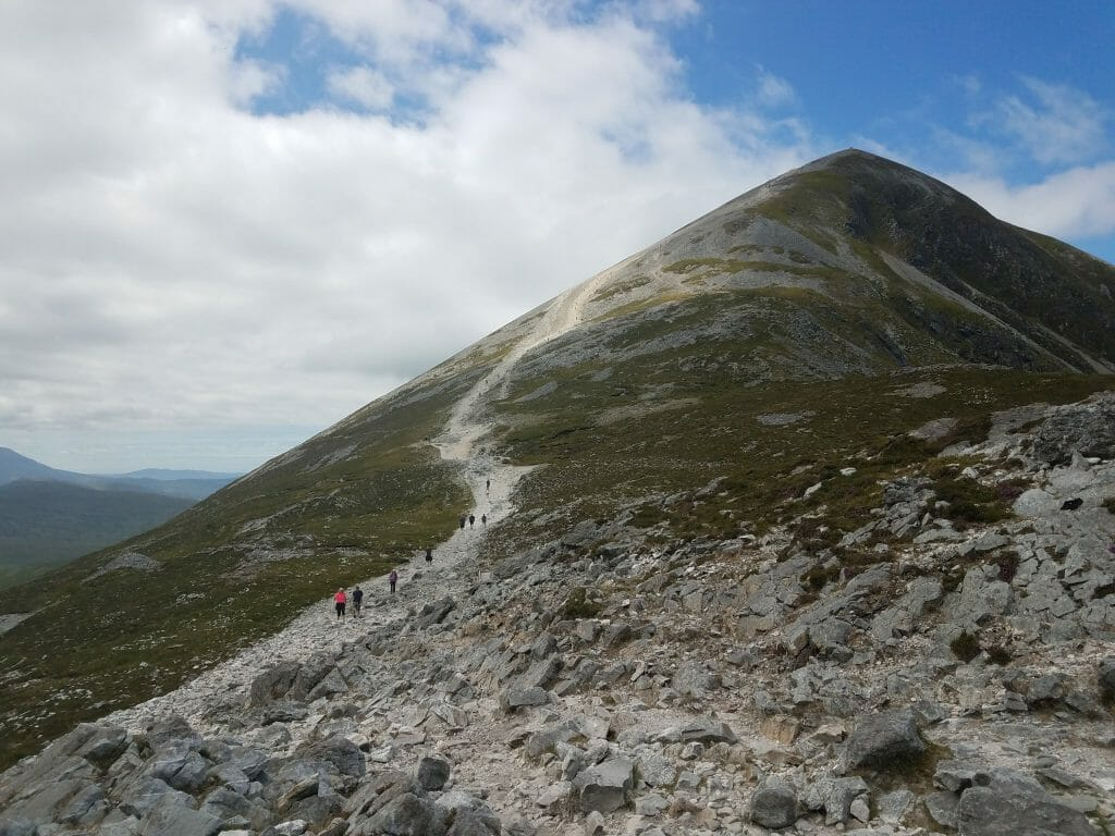 Daunting view from the start of the Croagh Patrick Hike