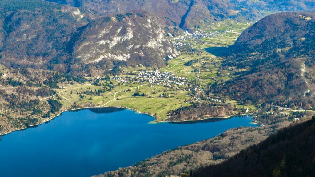 View over Lake Bohinj from Vogl Mountain in Slovenia - Europe Vacation Deals