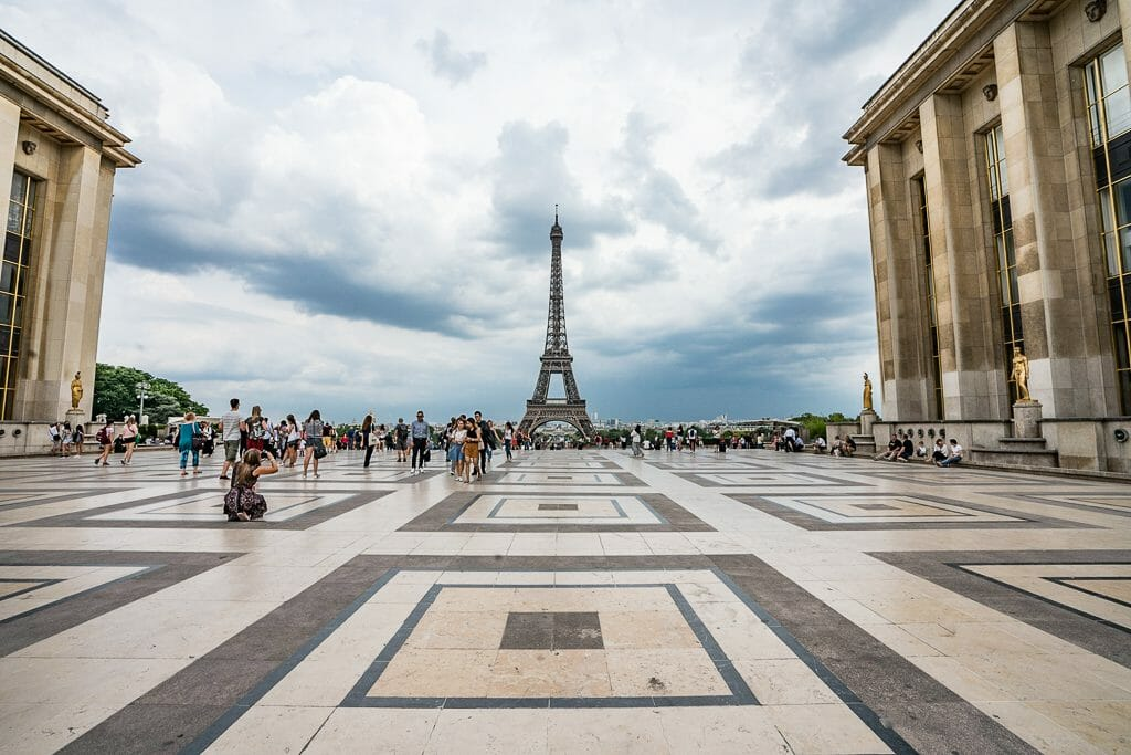 Trocadero and Eiffel Tower in Paris - European Vacation Deals
