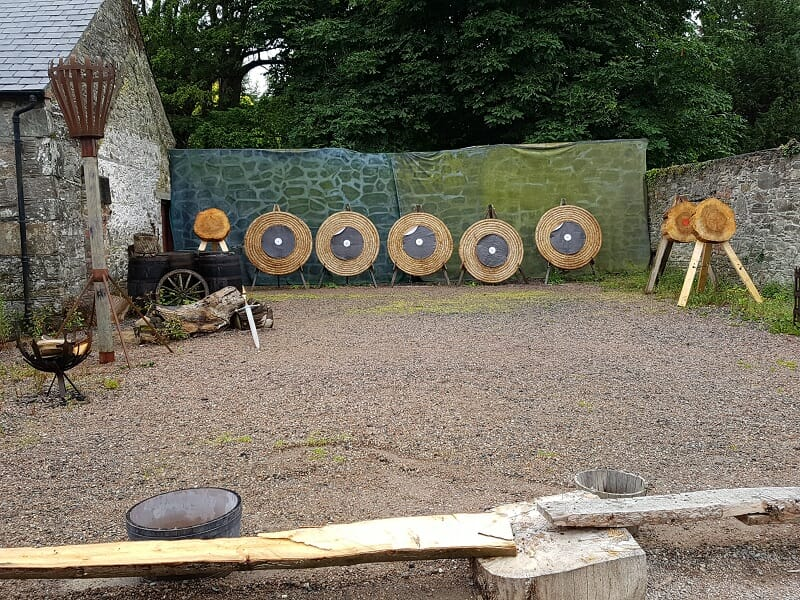 Archery Shooting Range at Castle Ward, where many Winterfell scenes of Game of Thrones were filmed