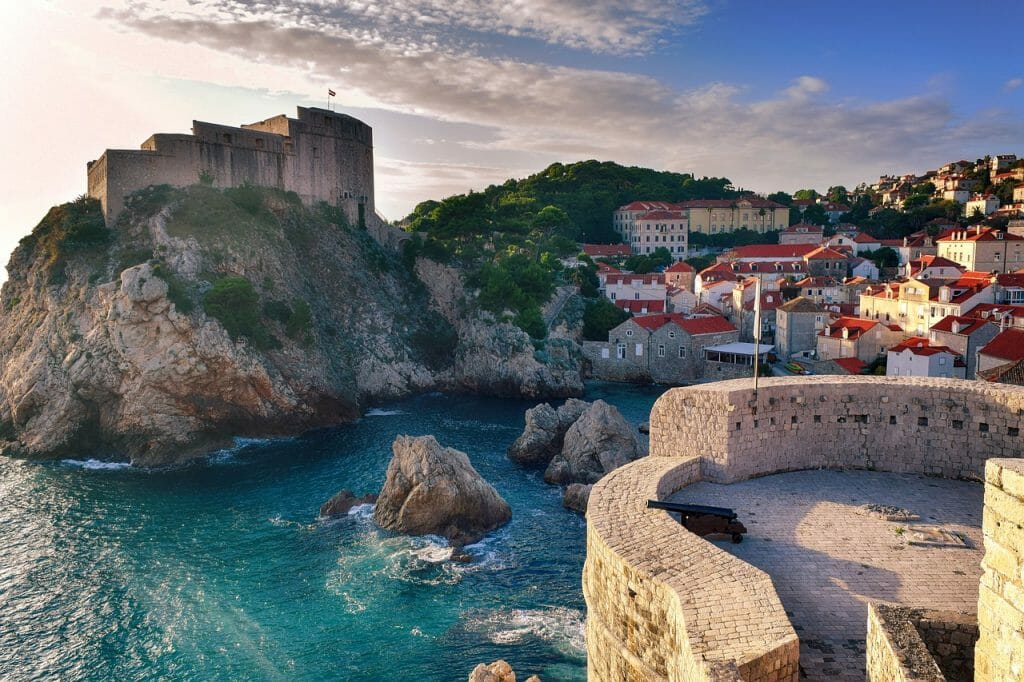 City view of Dubrovnik and coast line - Game of Thrones Locations Croatia