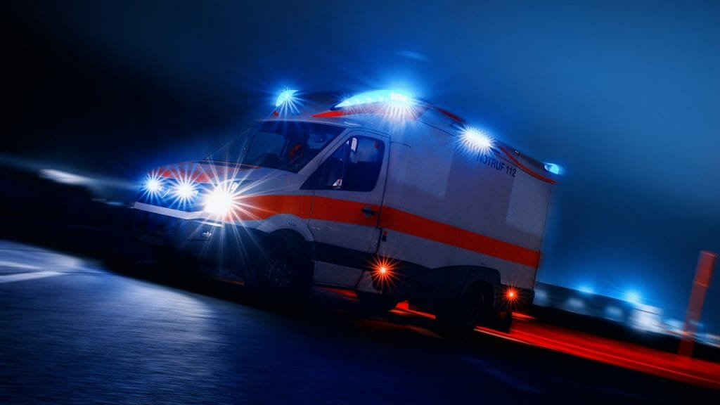German Ambulance at Night