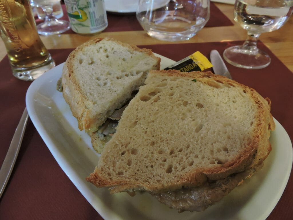 Delicious bifana sandwich