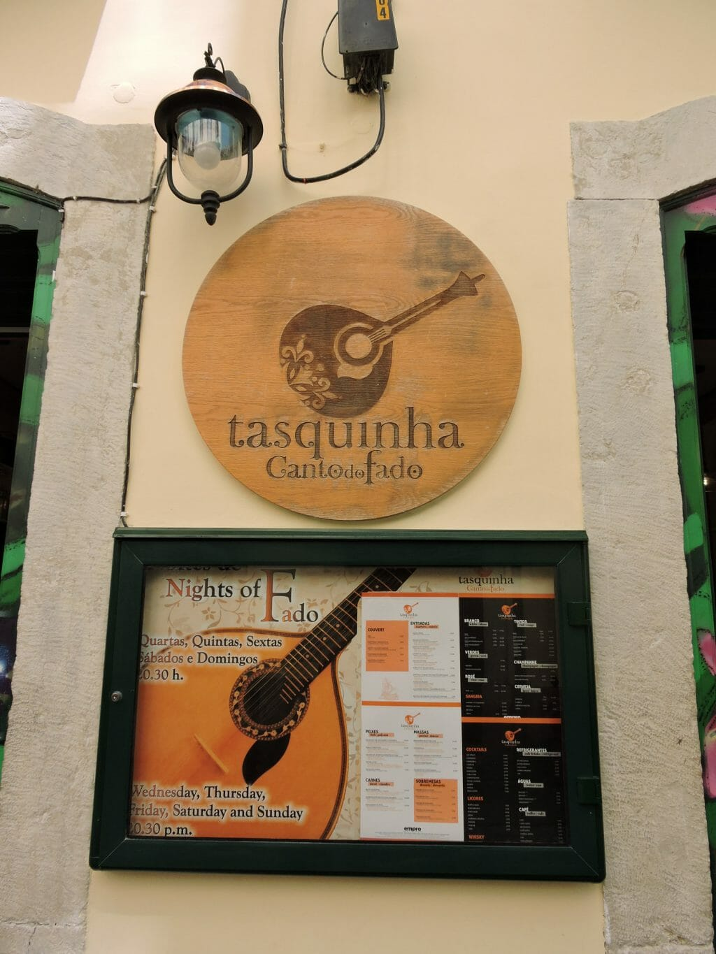 Tasquinha Sign in Lisbon