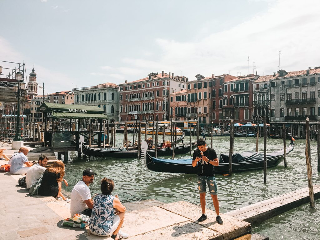 View of the Grand Canal in Venice