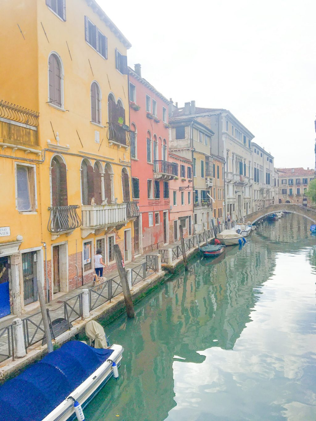 View of the Venetian river streets