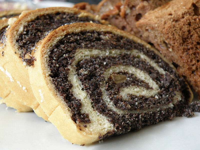 Polish poppy seed bread roll
