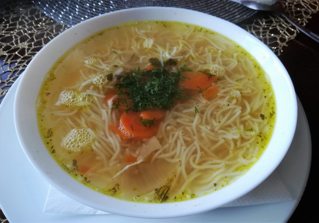 Polish noodle soup