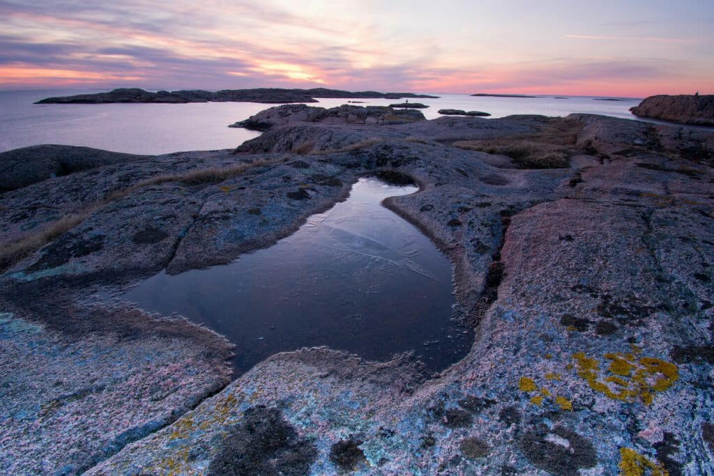 View of the Bahuslan coast in Sweden