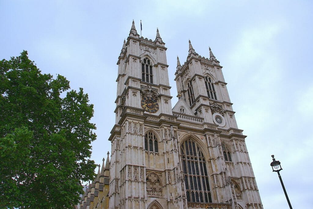Front entrance of the Westminster Abbey