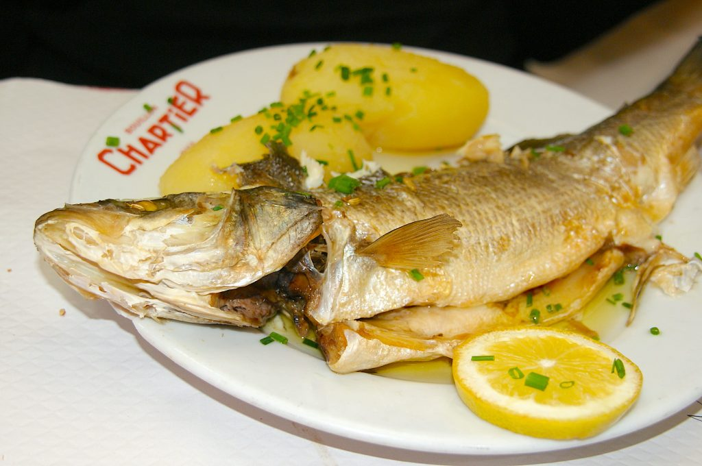 Seabass served at Chartier