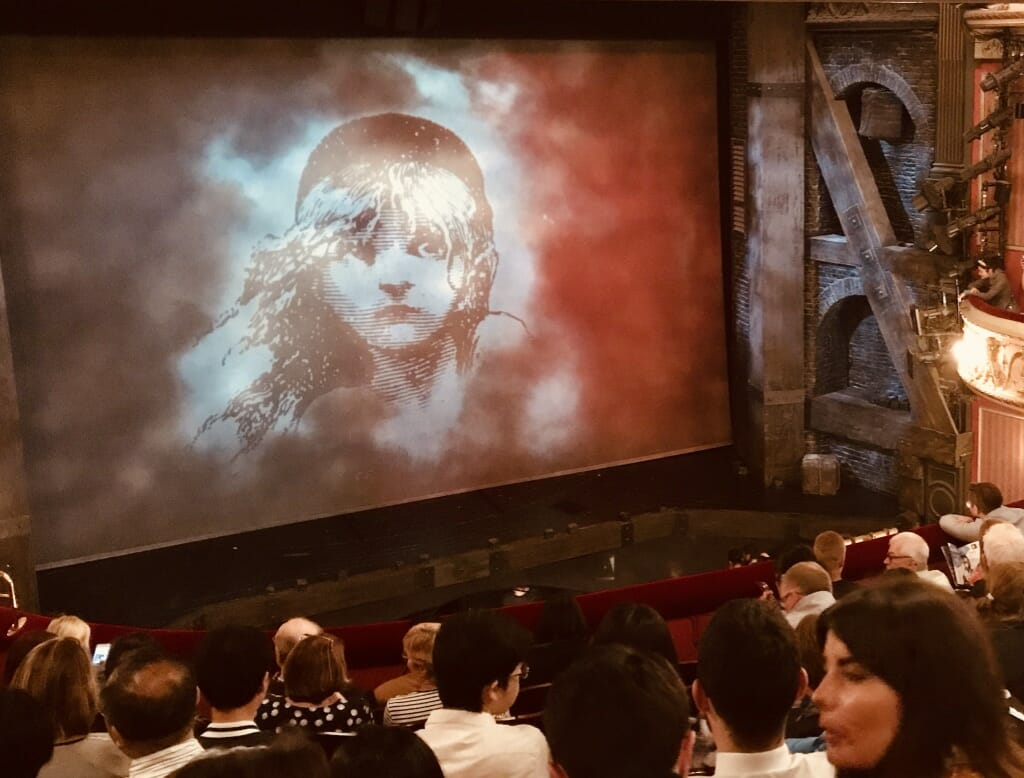 Les Miserable at the Queen's Theatre packed with people