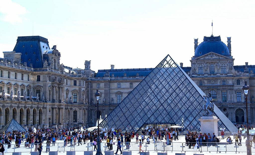 The court in front of the historic Louvre Museum