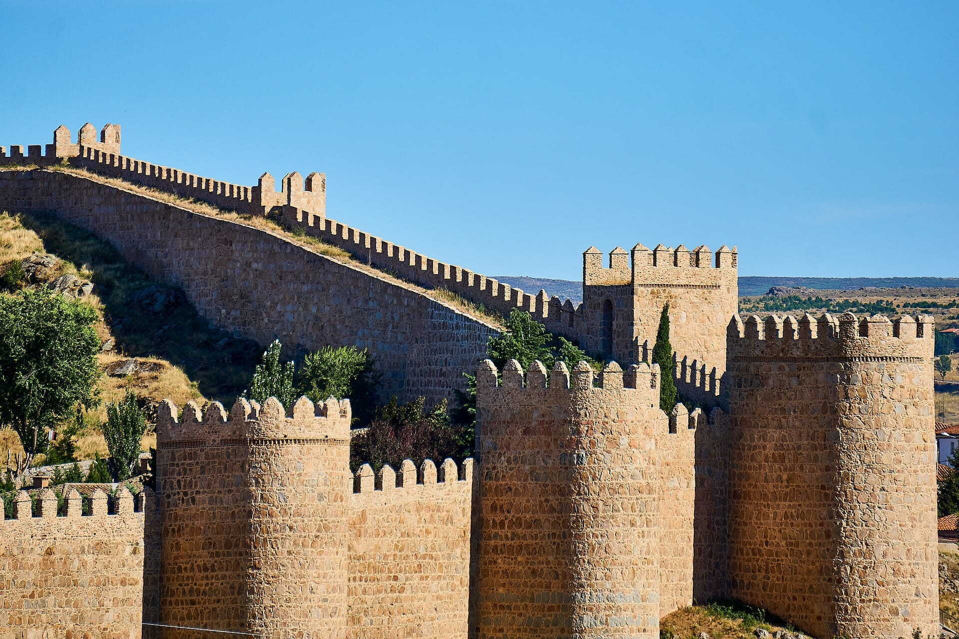 Towering Avila wall on this sunny day