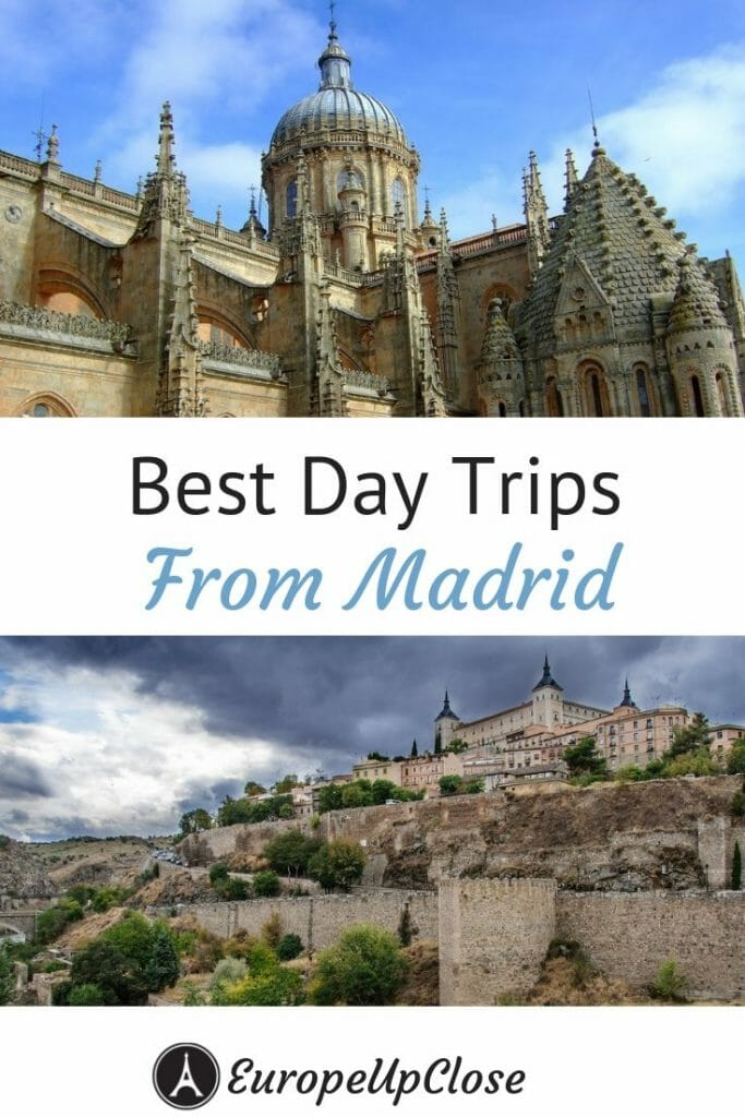 Click here to discover the best day trips from Madrid. If you have an extra few hours between Madrid and your next town, take a look at these awesome spots! #madrid #daytripsfrommadrid #spain #travel #traveling #europeupclose #madridspain #madriddaytrips #segovia #cuenca #avila #salamanca #europedaytrips #europe #europetravel #spaintravel #spaintrips