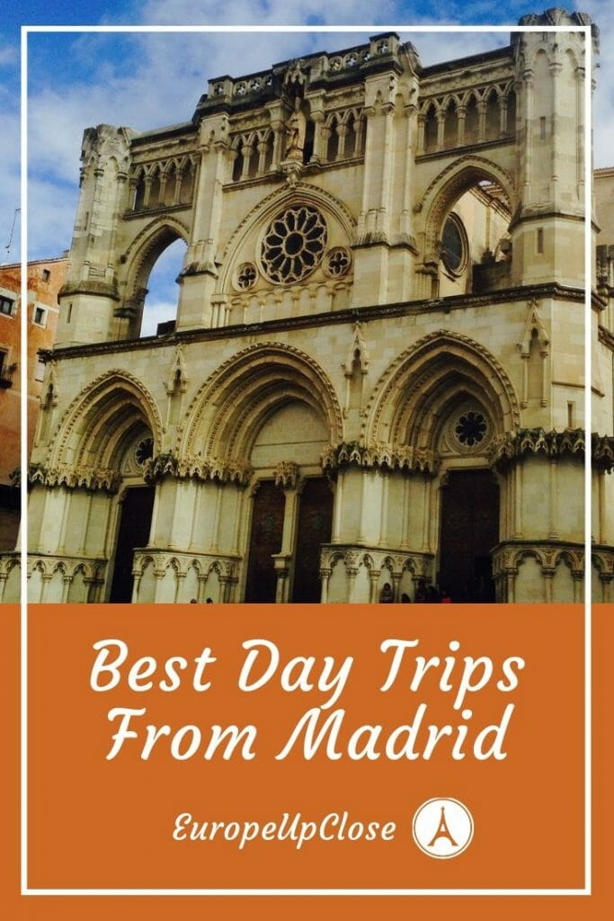 Discover the best day trips from Madrid. If you have an extra few hours between Madrid and your next town, take a look at these awesome spots! #madrid #daytripsfrommadrid #spain #travel #traveling #europeupclose #madridspain #madriddaytrips #segovia #cuenca #avila #salamanca #europedaytrips #europe #europetravel #spaintravel #spaintrips