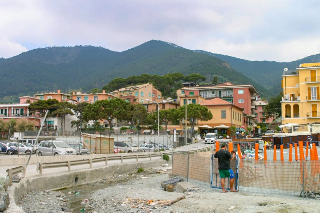 Parking lot at entry to the village of Monterosso Al Mare