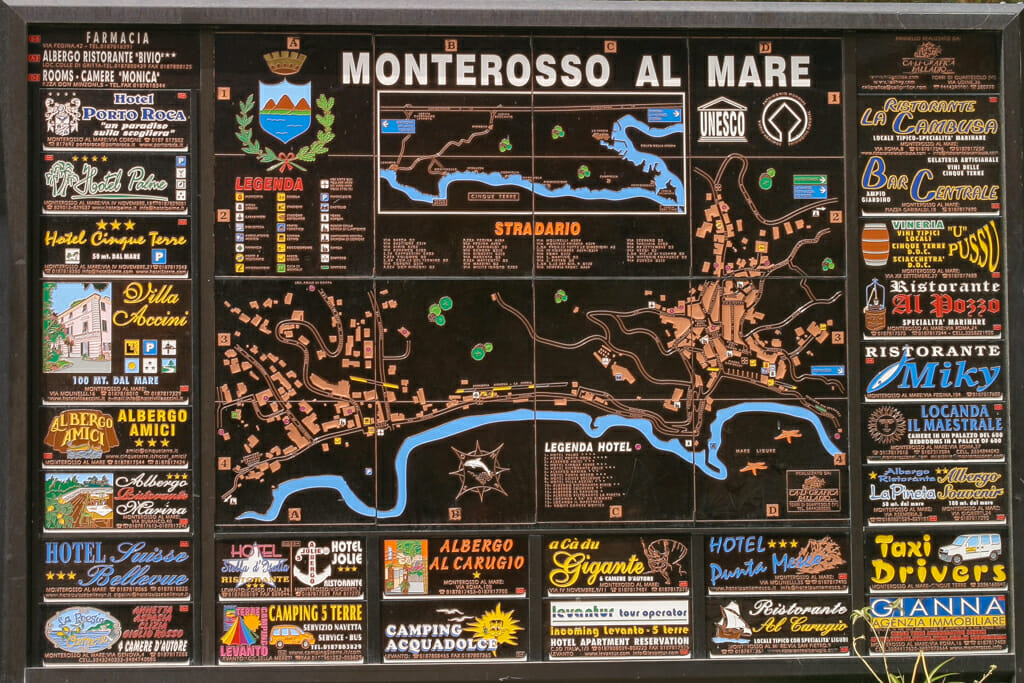 Map of Monterosso Al Mare