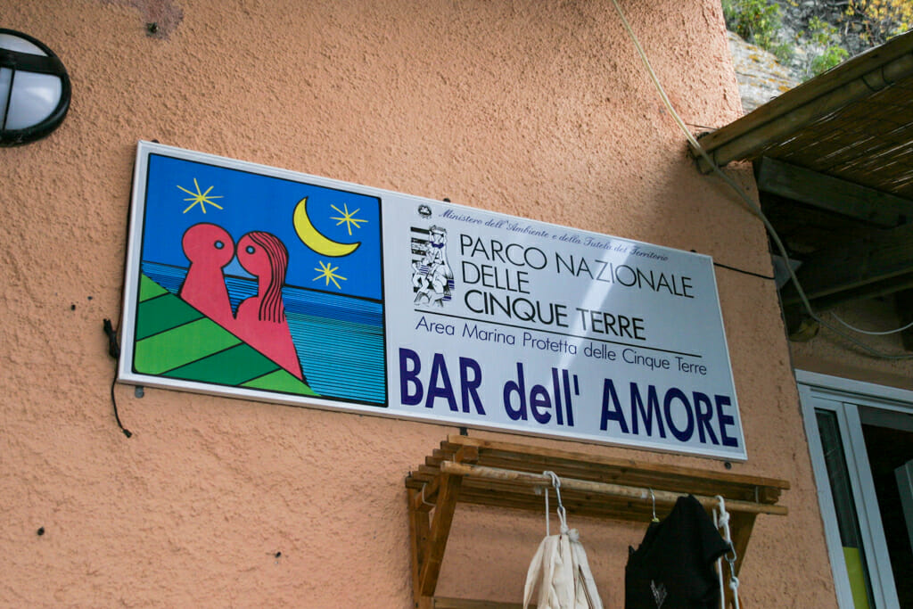 Sign of Bar dell' Amore - Bar of Love