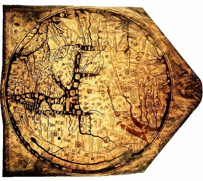Mappa Mundi from the cathedral archives