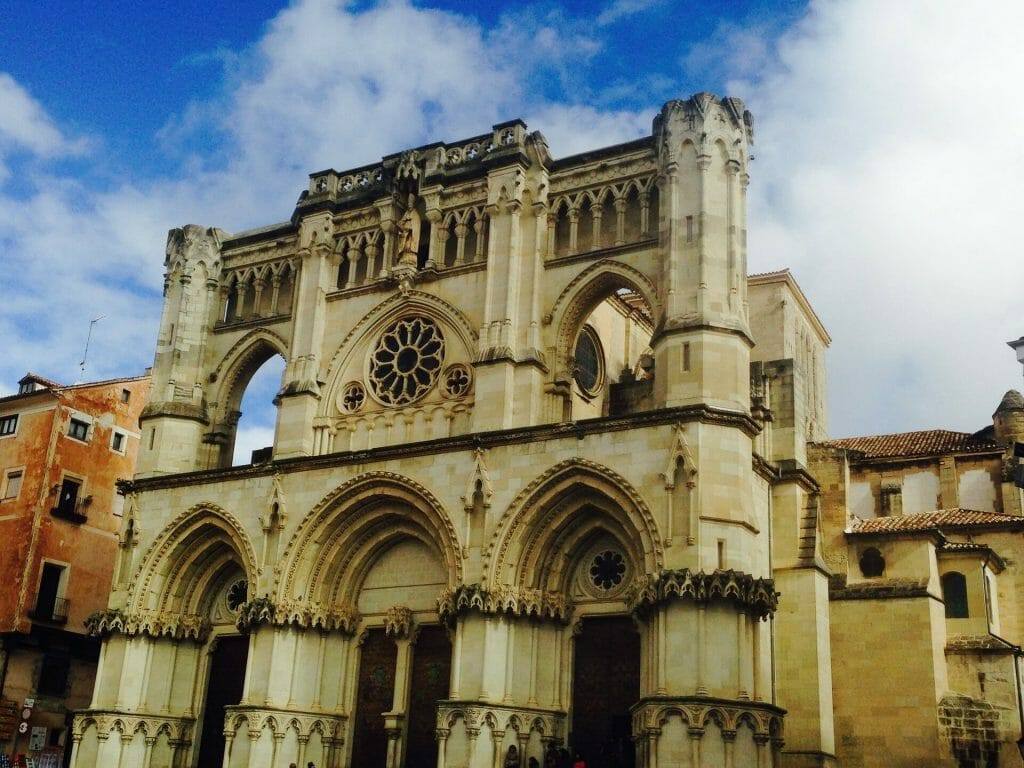 Cuenca church on a clear day