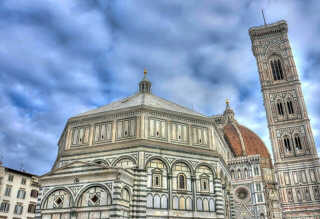 Florence cathedral on a gloomy day