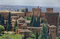 View of Alhambra in Granada Spain