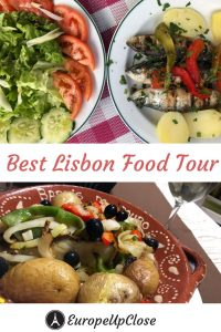 The best way to explore a country is by getting to know its food. Experience the Portuguese culture through their food and wine while seeing the Lisbon sights on this Lisbon Food Tour. #lisbon #portugal #lisbonportugal #lisbonwalkingfoodtour #foodandwinetour #foodtourlisbon #foodtour #lisbonart #travel #traveling