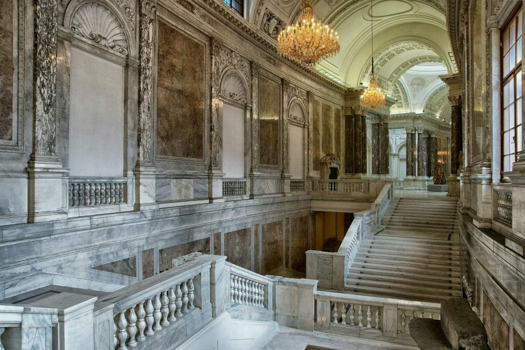 Gorgeous marble hallways and staircases