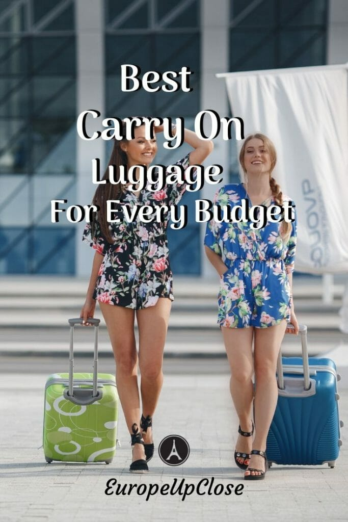 Read this if you're having trouble with all those luggage brands. Discover the best carry on luggage options and find out what works for you! #europetrip #europetravel #europeitinerary #traveltips #travel #triparoundtheworld #worldtravel #luxurylifestyle #luxurytravel #carryon #carryonluggage #luggage #packingtips #moneymatters