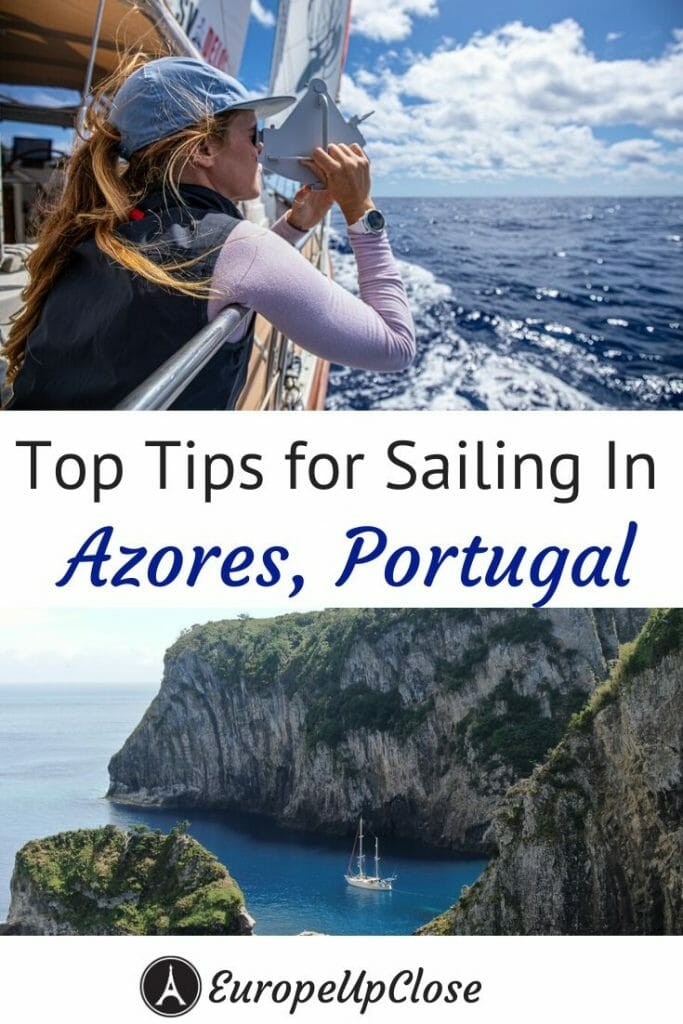 The SV Delos Crew is sharing their top tips for sailing in the Azores Islands, Portugal, including best harbors, sailing tips and top things to see and do while exploring the Azores. #sailing #sailor #sailboat #bluewater #atlanticcrossing #sail #azores #portugal #atlantic #sailingholiday #ocean #atlantic #travel #sailingtips #azoresislands #traveltips #travel #sailboats