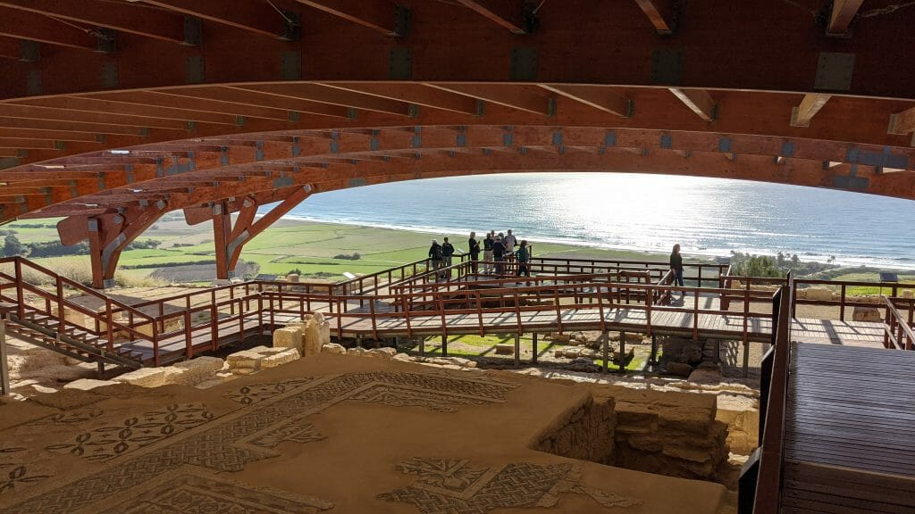 Kourion Archeological Park overlooking the ocean