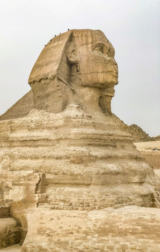 Sphinx in Egypt - Mythical Creature built by Egyptians near the Pyramids of Giza