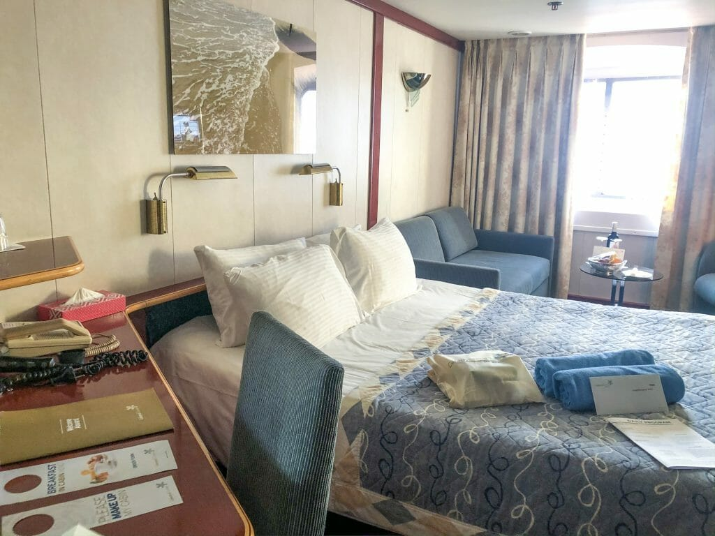 Outside Stateroom On the Celestyal Crystal Cruise Ship