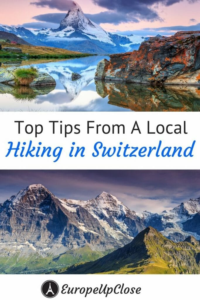 Here are the top tips for Hiking in Switzerland by a Swiss local, who shares all her favorite hikes in Switzerland and everythiing else you need to know about hiking in the Swiss Alps #switzerland #swissalps #hiking #besthikes #outdoors #outdooradventures #adventure #hike #hikingtrails #switzerlandhiking #switzerlandmountains #alpine #mountaineering #fitness #trail