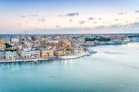 Best Places to Visit in Puglia Travel - Aerial panorama of Brindisi in the afternoon, Puglia, Italy